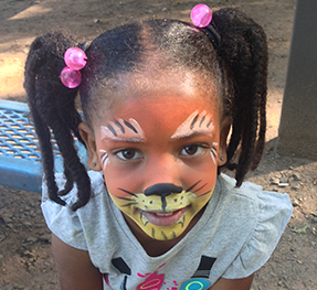 Tiger Face Painting in New Jersey