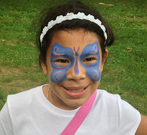 Butterfly Face Painting in New Jersey