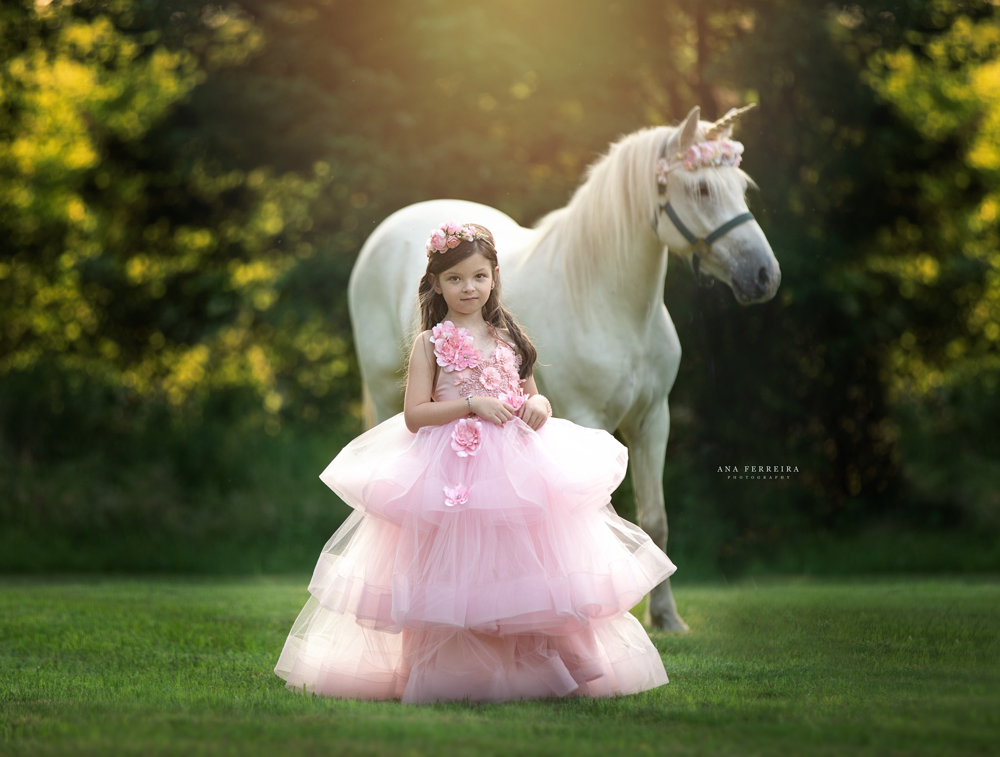 Unicorn photo shoot in the park